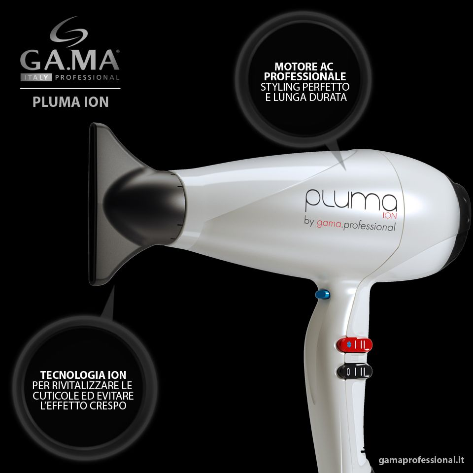 The Pluma Ion White #hair #dryer is designed with ION technology, which makes the hair shinier and reduces humidity and static electricity. Available on the e-shop for Italy! http://www.gamaprofessional.it/Asciugacapelli/Pluma_Ion_bianco #hairdryer #hairdryers #dryers #blowdry #phon #asciugacapelli #Gama #gamaprofessional #GamaItalia #beautytechnology #capelli #haircare #beauty #bellezza #blowdry #blowdryer