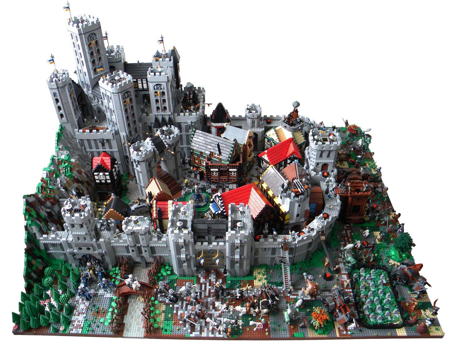 Blue Crowns Castle Siege Legos Lego Lego Creations Lego Castle