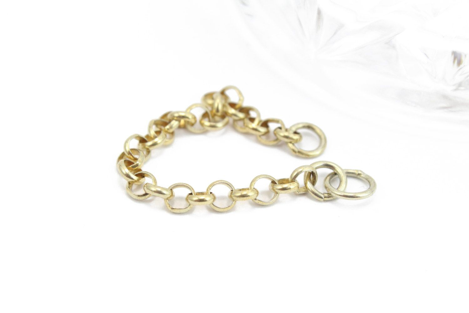 """18k Yellow Gold Vermeil Extension Chain Approx. 3"""" by BeadtotheMax on Etsy"""