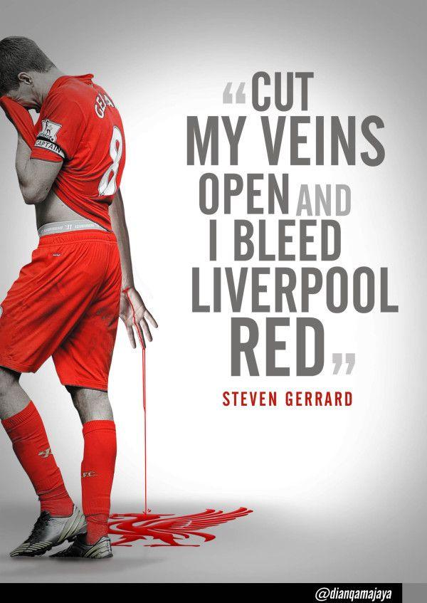 Liverpool red runs through Steven Gerrard's veins #LFC