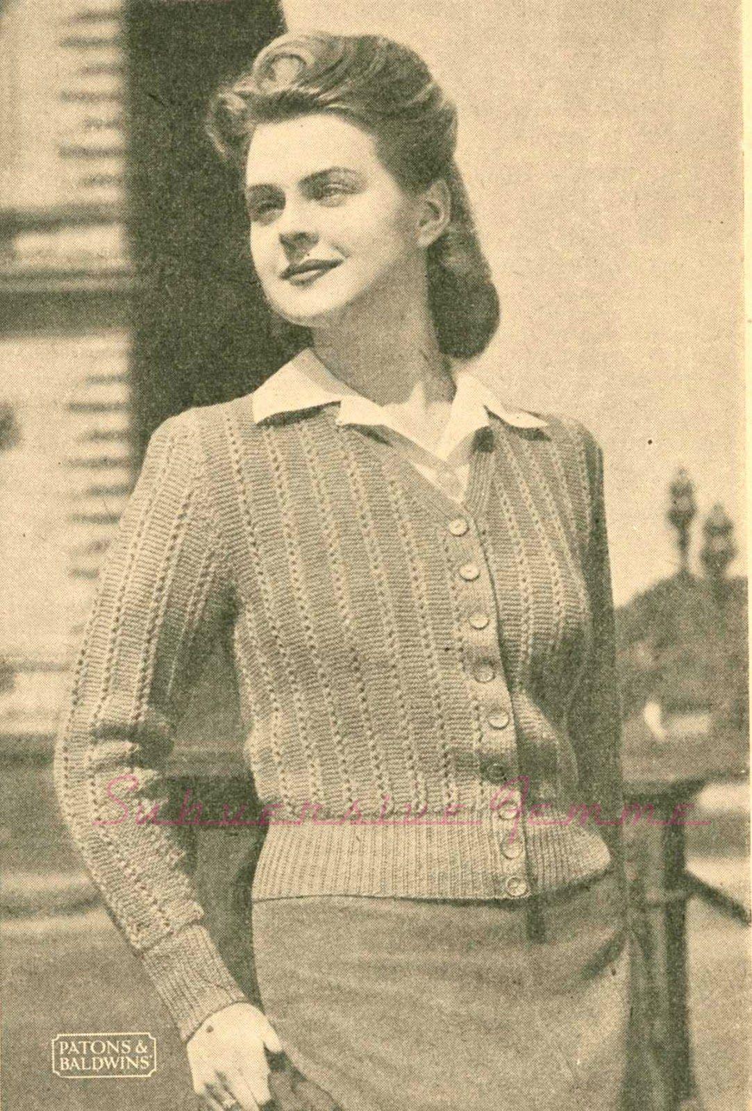 Subversive Femme: Curvy Month Pattern Nine: Lorna Cardigan, c 1940s ...