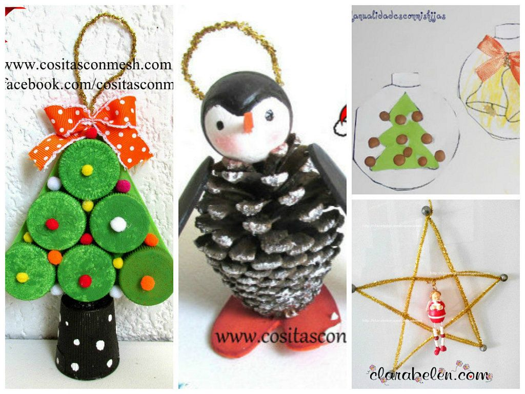 4 bonitas manualidades navide as para hacer con ni os for Manualidades navidenas para ninos