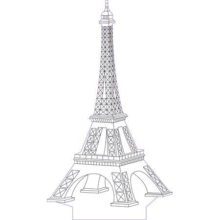 Eifel Tower 3d Illusion Vector File For Laser And Cnc 3bee Studio 3d Illusion Lamp 3d Illusions 3d Optical Illusions