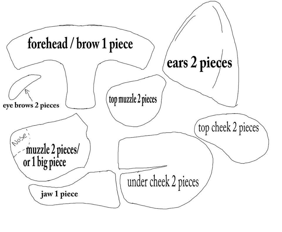 1st fursuit head template for sketchy fursuits by on deviantart. Black Bedroom Furniture Sets. Home Design Ideas