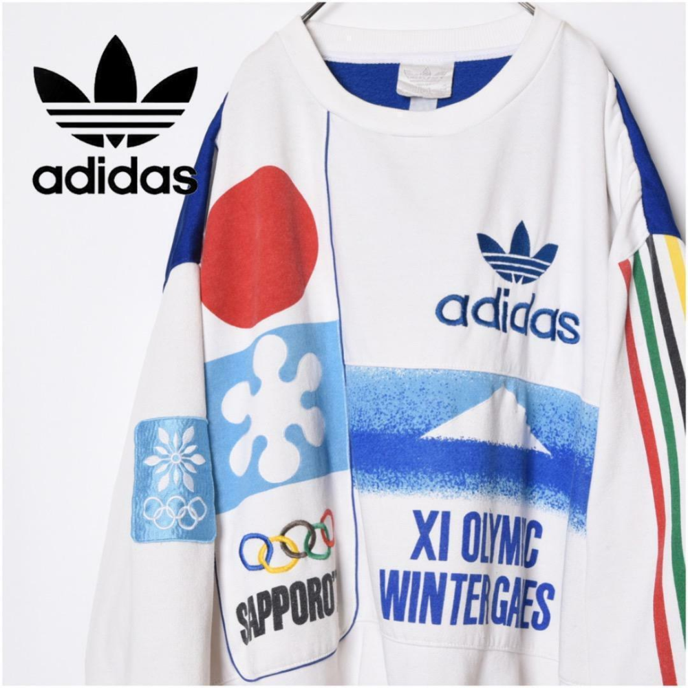Adidas Winter Olympic Sweat Men Pullover Games Large 1968 Grenoble White Rare Ebay Sport Shirt Design Winter Olympics Grenoble [ 1000 x 1000 Pixel ]