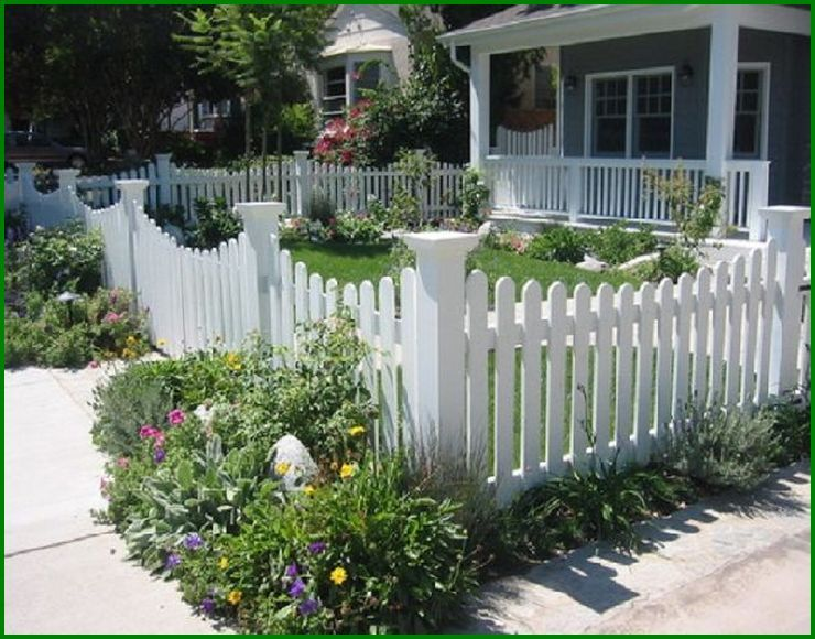 Modern Picket Fence Front Yard With Nice Front Yard Picket Fence