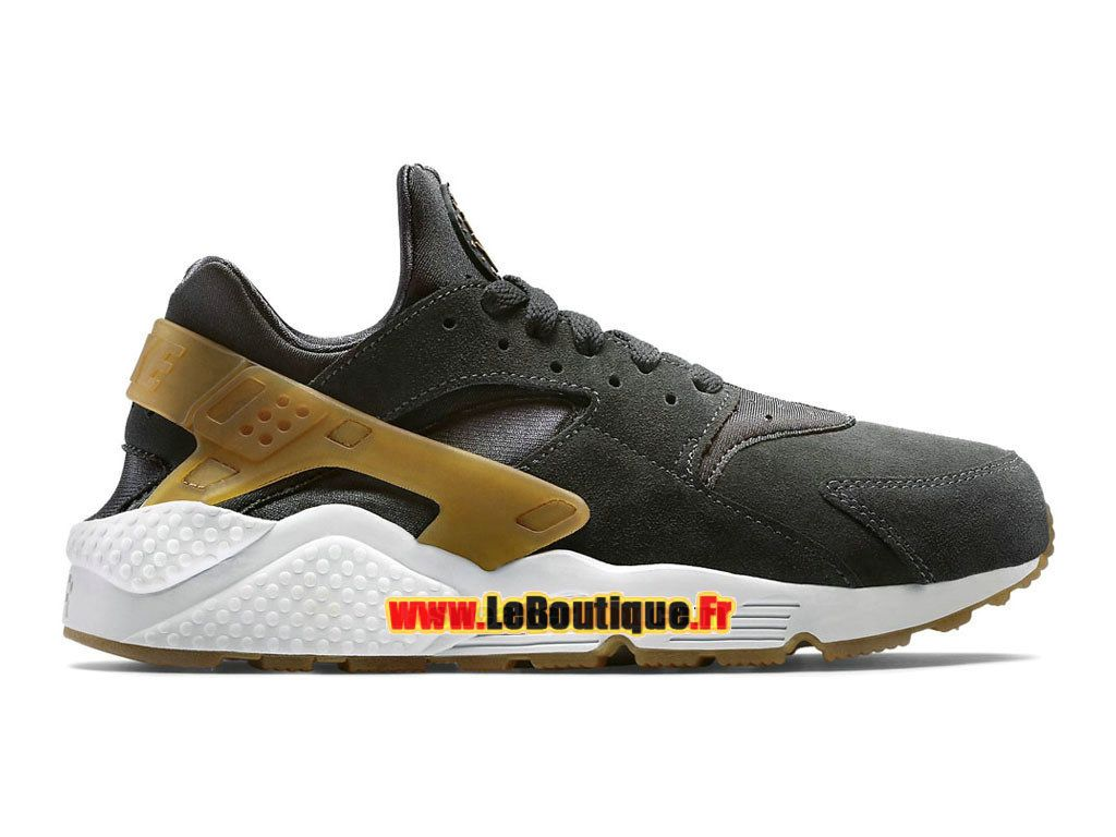Nike Air Huarache Run Suede - Chaussure Nike Sportswear Pas Cher Pour Homme  Anthracite/Gomme