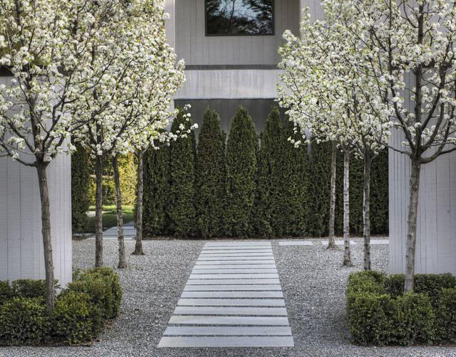 Entzuckend Trittsteine Kies Ideen Kunstsvolle Landschaft Im Garten