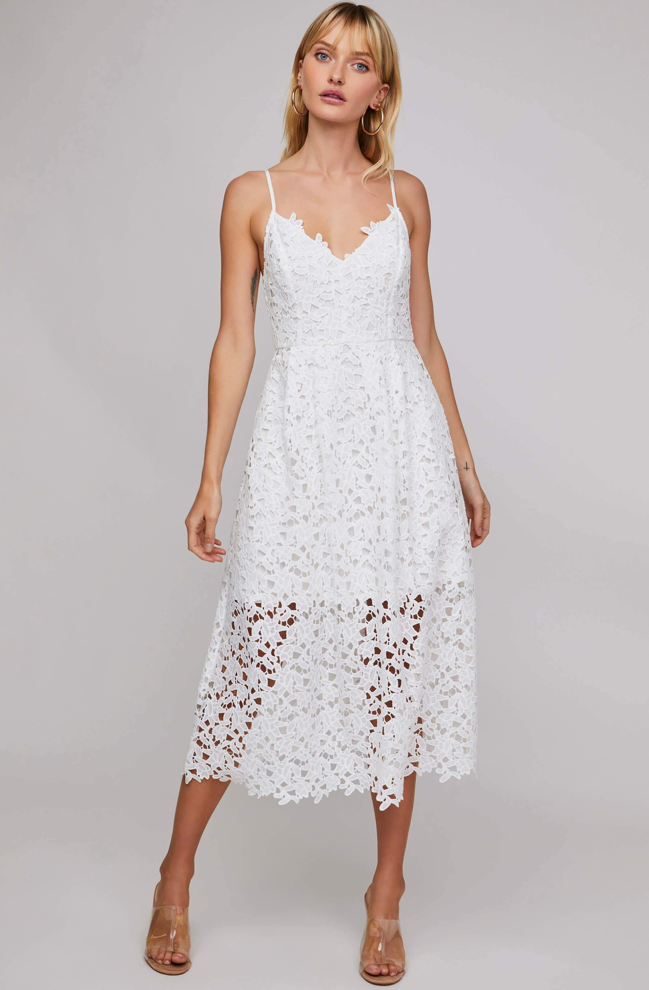 Astr Lace A Line Midi Dress Astr The Label White Midi Dress Lace Midi Dress Lace White Dress [ 3432 x 2250 Pixel ]