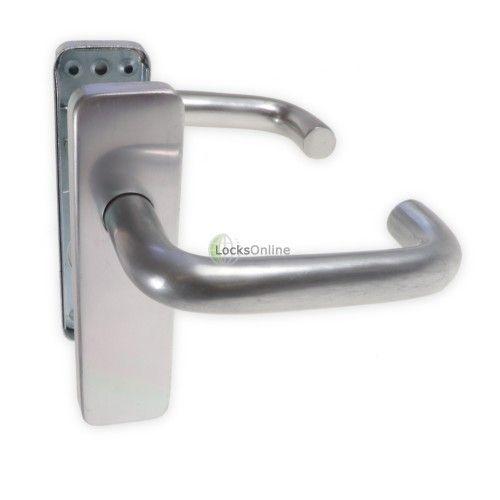 LocksOnline Aluminium Round Bar Lever Door Handle on Backplate Smart ...