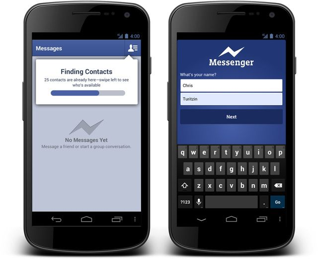 Facebook Messenger for Android drops account requirement