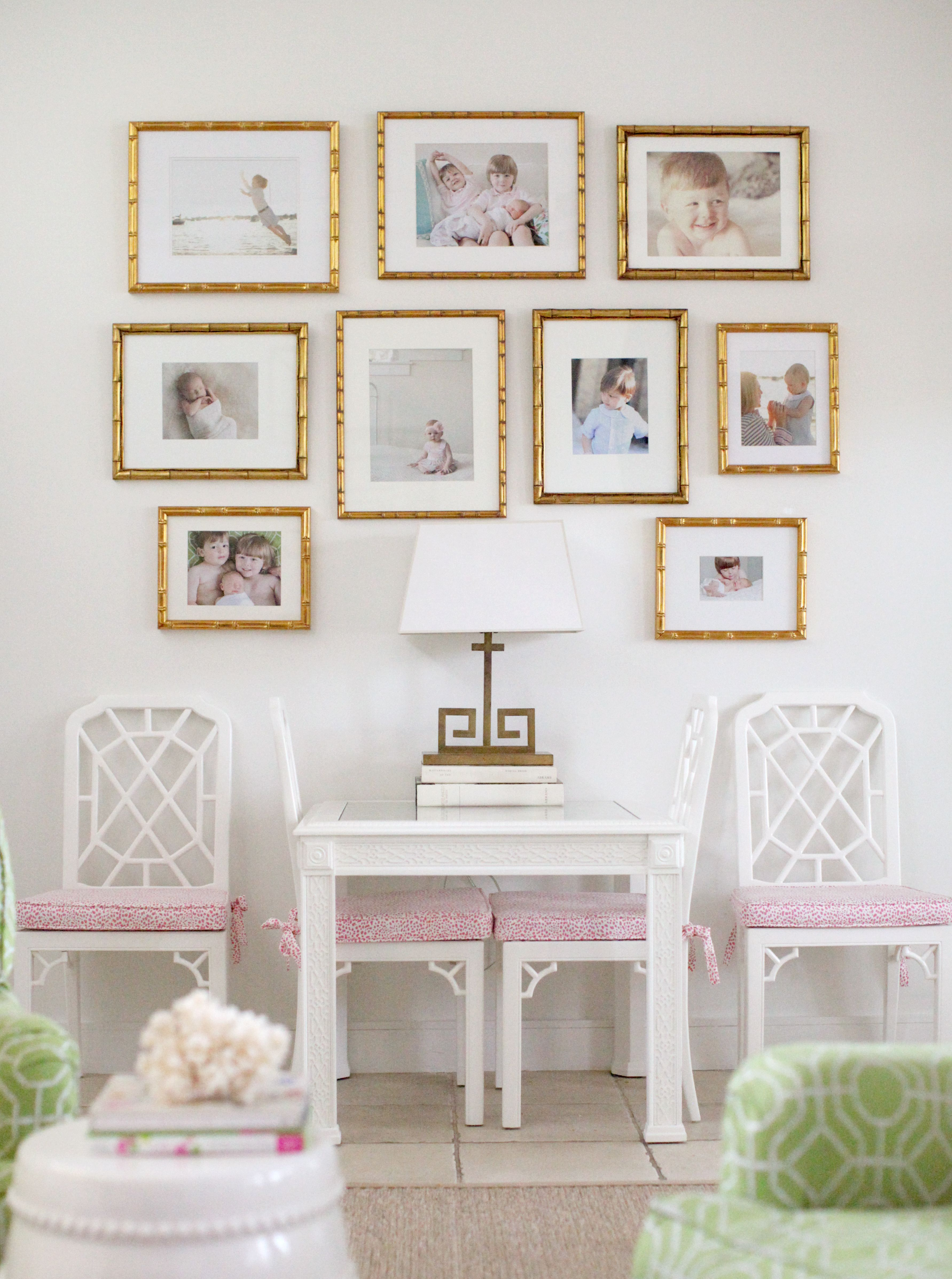 Home Inspiration Pink Gold Rooms Gallery Wall Game