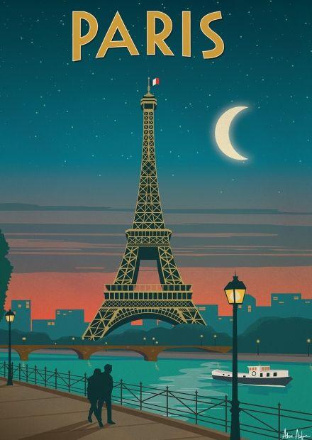 Alex 247 art print paris alex247 pinterest affiches for Tour de barcelona a paris
