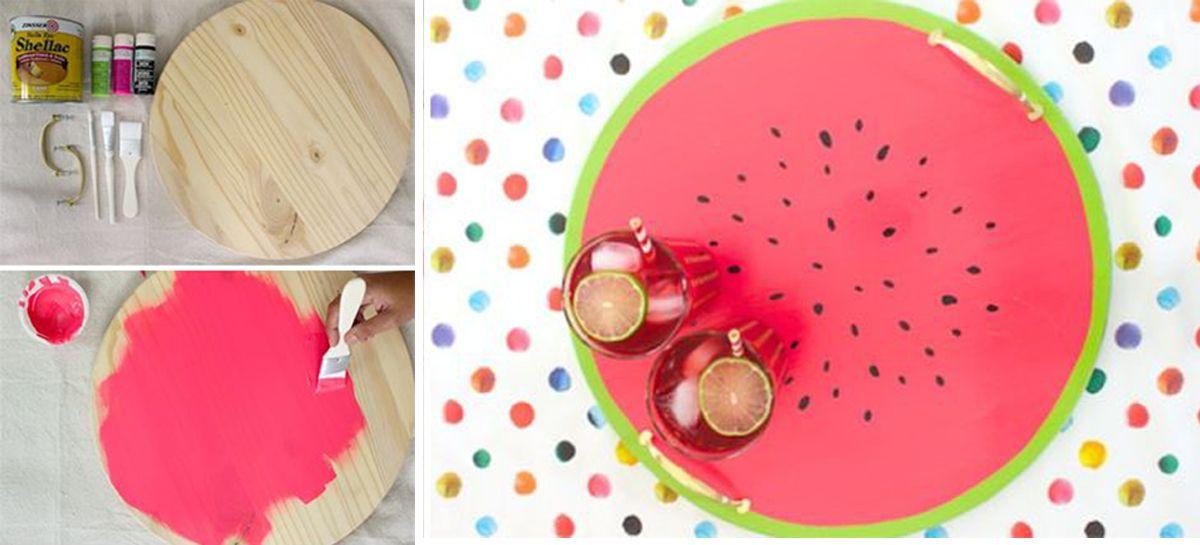 6 projektów DIY z motywem arbuza - Projekt Blou - architektura wnętrz, handmade, inspiracje