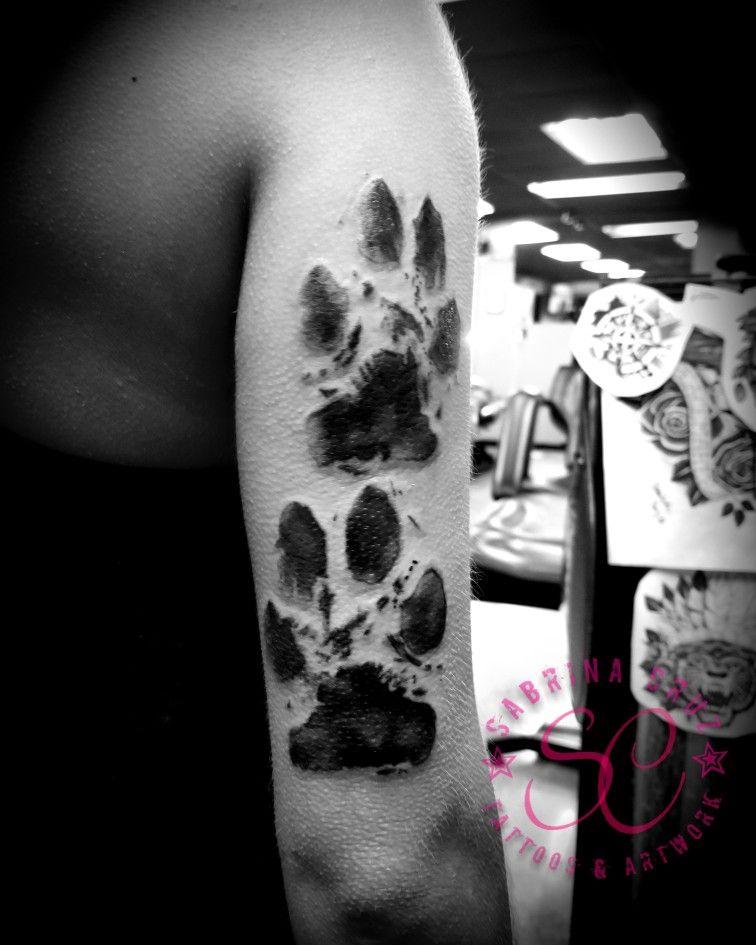 Paw print tattoo by @sabrinacruz005 @skinelixirtattoo at Skin Elixir ...