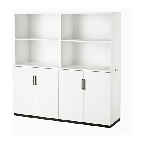 Galant Storage Combination With Doors White Storage Doors And