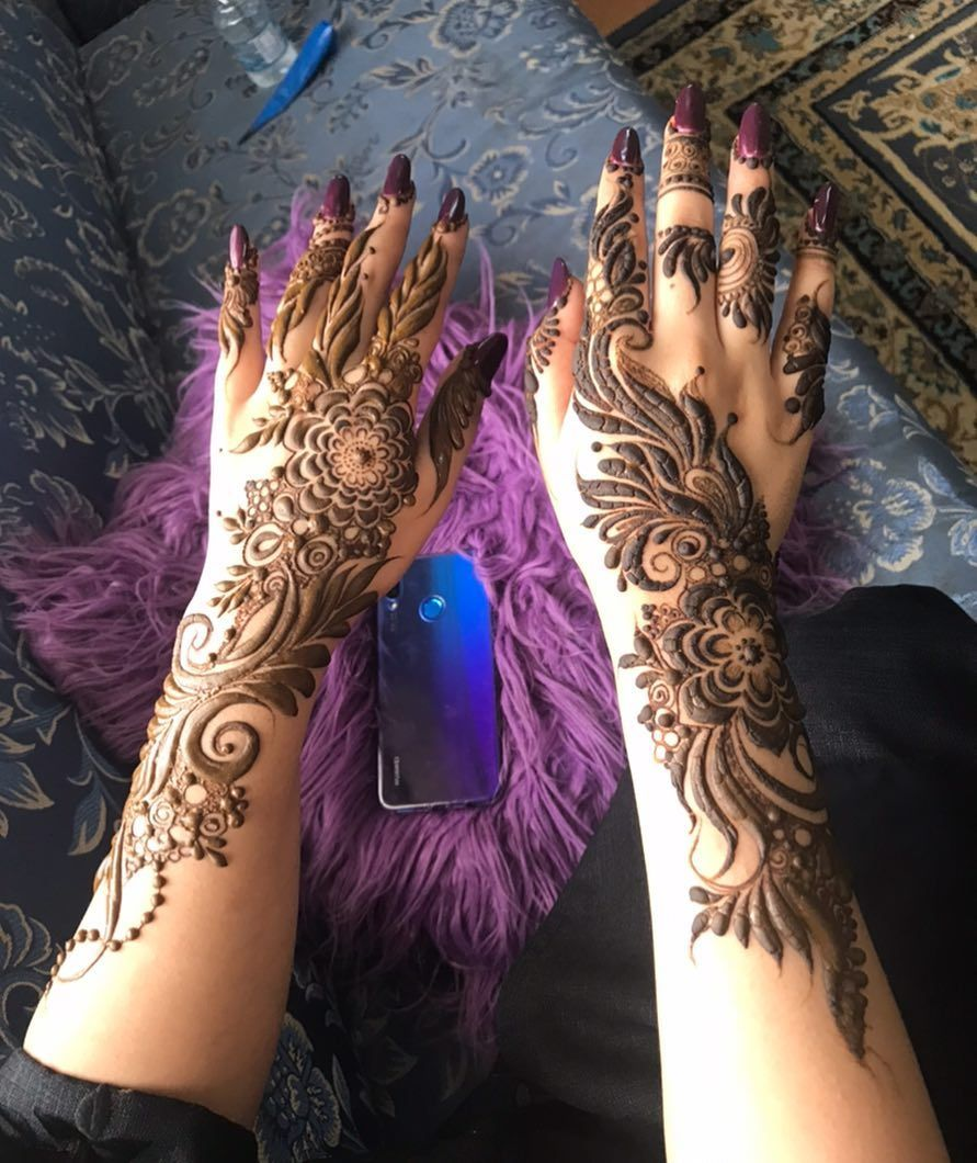 نقش حناء البنفسج On Instagram Cd7k Cd7k Cd7k Cd7k Mehndi Designs Henna Hand Tattoo Henna
