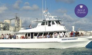 Groupon - Half- or Full-Day Fishing Trip with a Restaurant Voucher from Obsession Charters (Up to 55% Off) in Cocoa Beach-Cape Canaveral. Groupon deal price: $25
