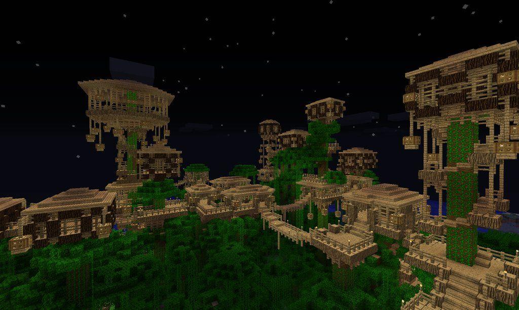 Jungle tree village minecraft projekte minecraft und - Minecraft projekte ...