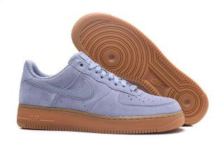 lowest price 2b755 e0b4a Mens Womens Nike Air Force 1 07 LV8 Suede Blue Gum Running Shoes