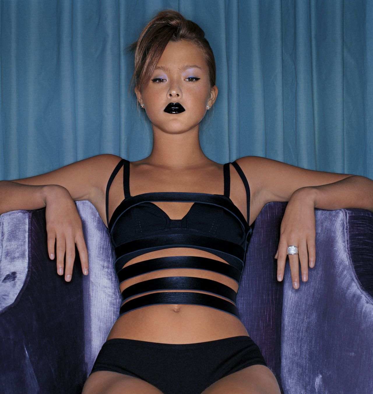 """Suit 212″ Devon Aoki photographed by Patrick Ibanez"