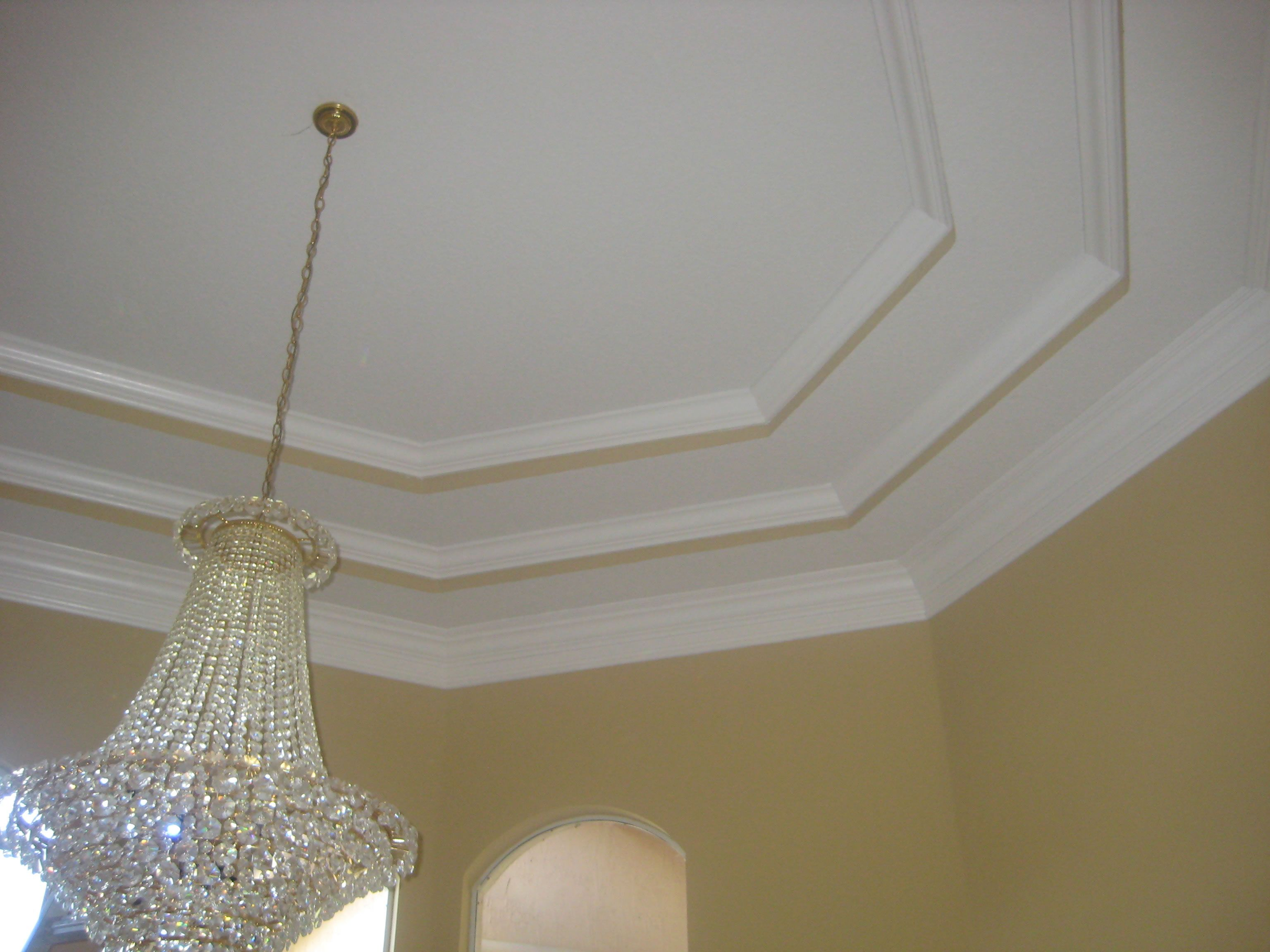 Faux Tray Ceiling With Molding Crown Max Decor Gallery Photos