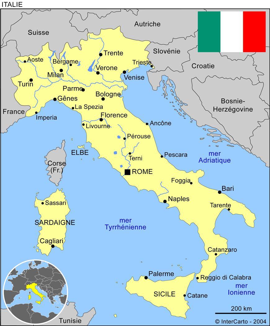 la carte de l italie Carte de l'Italie (avec images) | Carte italie, Italie, Thème italie