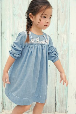 e5cff378583e WHY does this denim shift dress not come in adult sizes!  LOVE ...