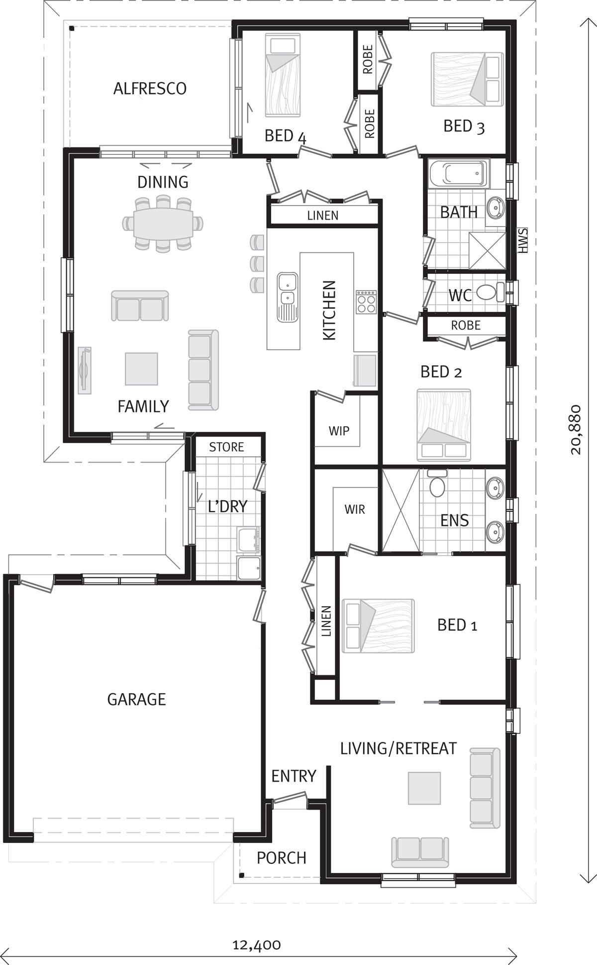 Riverside 3 Sizes Home Designs In Wangaratta House Design Build My Own House Design