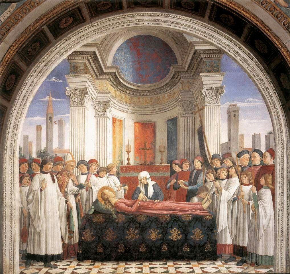 Funerale di Santa Fina. Cappella di Santa Fina.  1475.