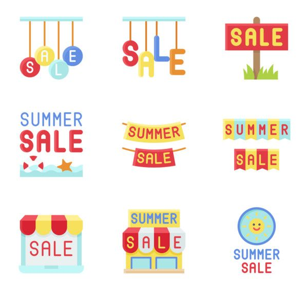 Download 91 premium vector icons of Summer Sale designed by amonrat ...