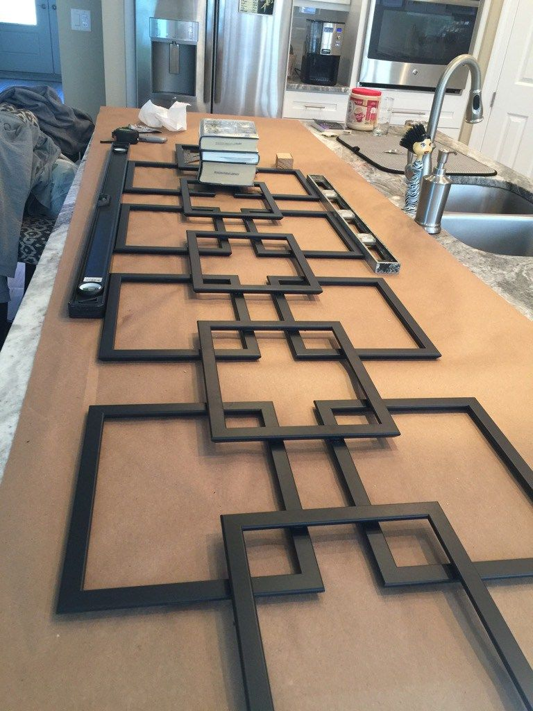 Photo of Faux fretwork panel as large scale wall décor – IKEA Hackers