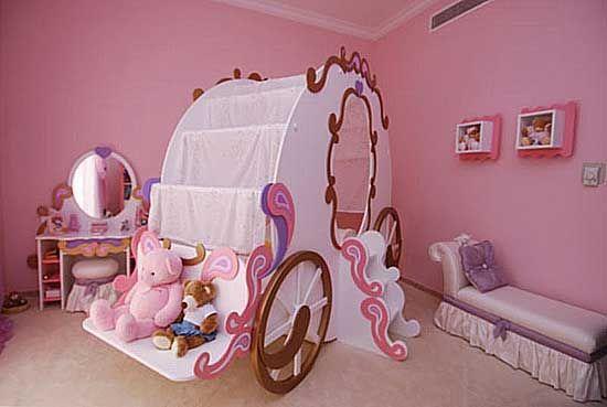 Cinderella Coach Bed Furniture Design For Your Kids Bedroom