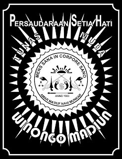 Logo Sh Winongo Pshtmw Hitam Putih Png Dan Cdr Vektor Transparan Seni Bela Diri Belajar Agama