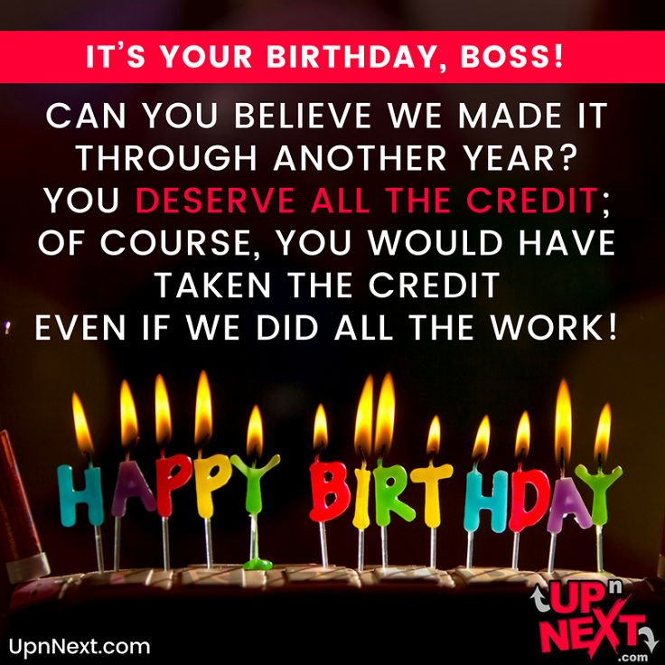 Happy Birthday Wishes for Boss (20 Funny Messages for