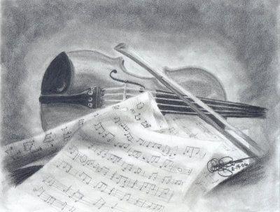 Master Violin Drawing at ArtistRising.com   Music for the ...