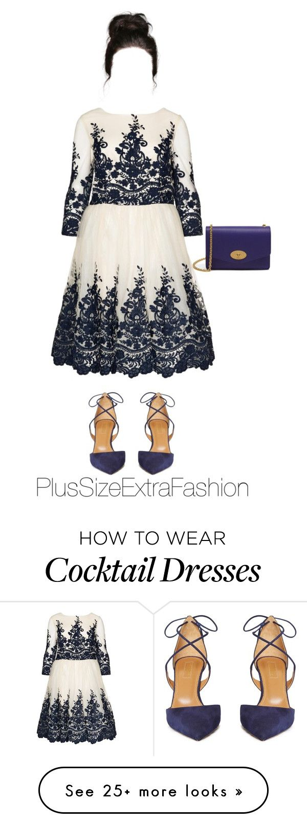 """Plus Size Fall Formal Outfit ft. Navy"" by plussizeextrafashion on Polyvore featuring Aquazzura, Mulberry, Fall, plussize and plussizeextrafashion"