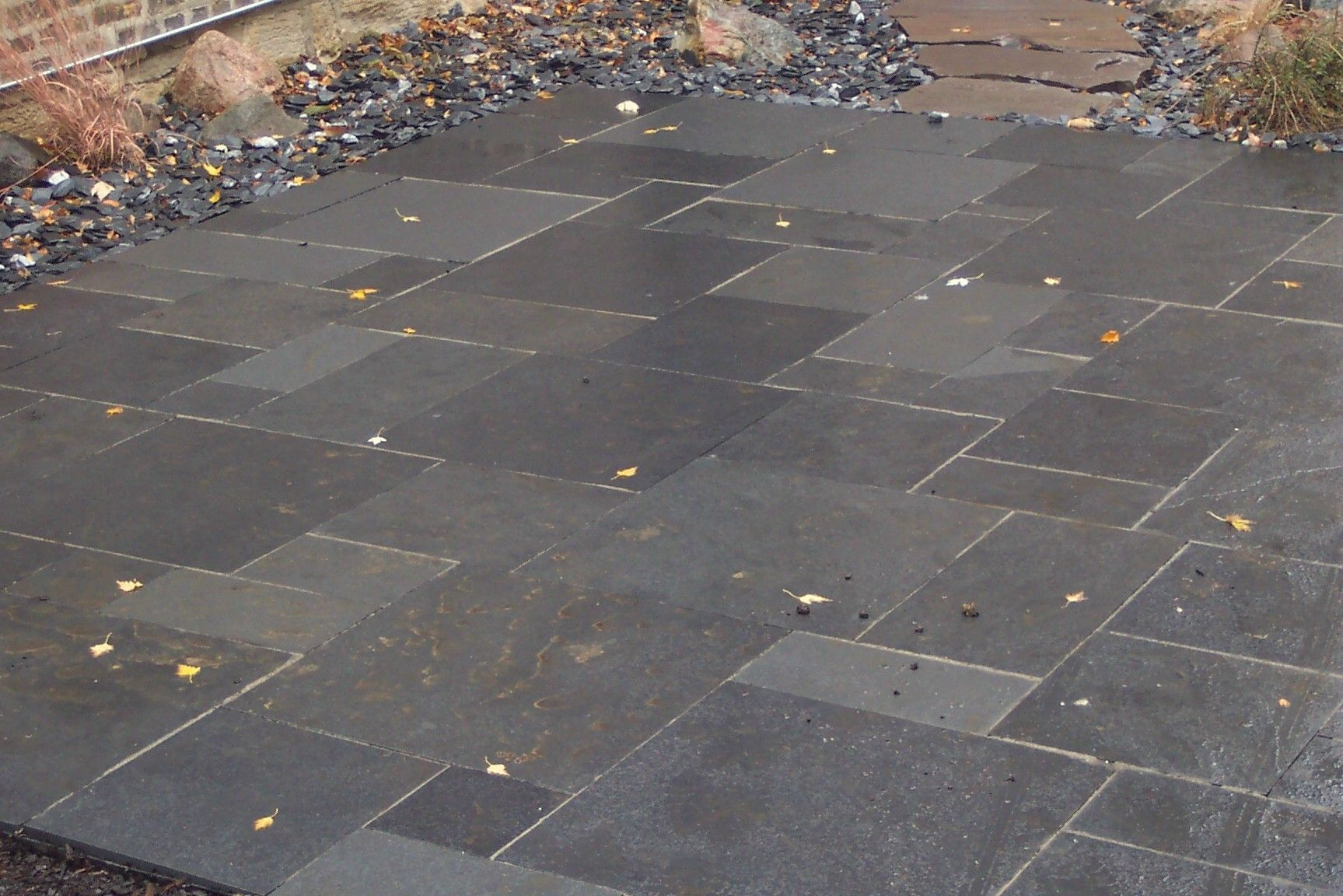 Stone Slate For Backyard gray slate patio | remodeling ideas | pinterest | patios, slate