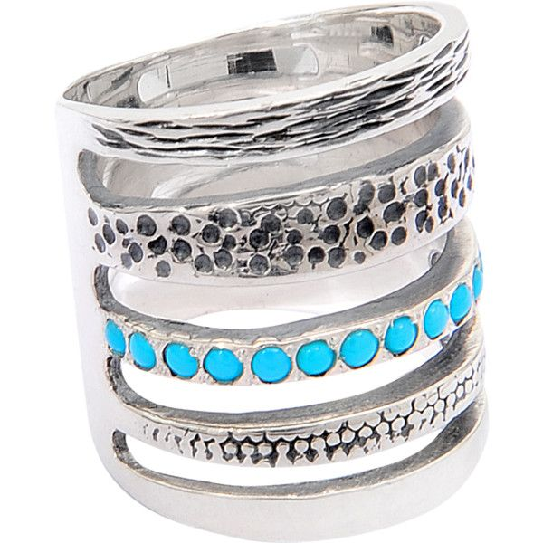 Pamela Love Single Cage Turquoise Ring ($236) ❤ liked on Polyvore featuring jewelry, rings, anillos, pamela love ring, turquoise jewellery, pamela love, blue turquoise jewelry and green turquoise ring