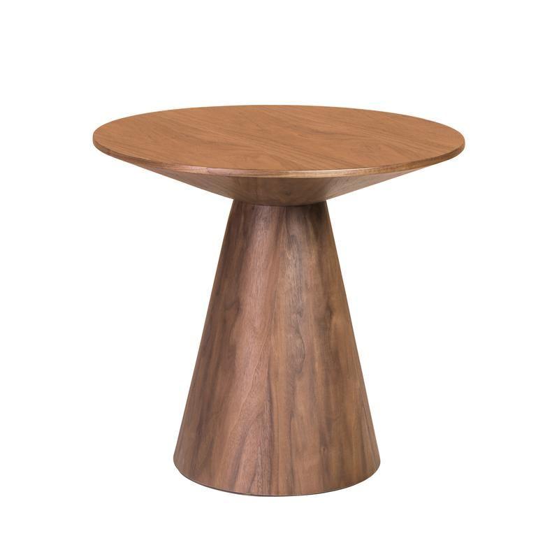 Wesley 24 Inch Side Table Walnut Veneer 23 6 Diameter X 22 High