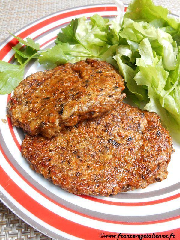 """""""Steaks"""" aux champignons (végétalien, vegan),  #aux #champignons #RECETTEVEGETARIENNE #Steaks #vegan..."""