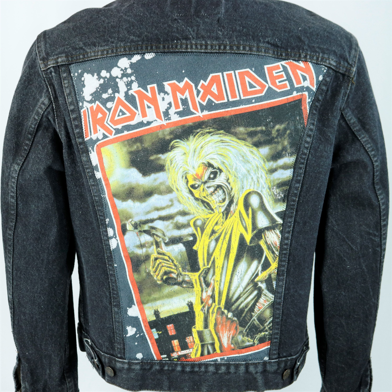 Iron Maiden Levis Denim Jacket Black Jean Trucker Upcycle Etsy Denim Jacket Denim Jacket Black Jeans Black Denim Jacket [ 3000 x 3000 Pixel ]