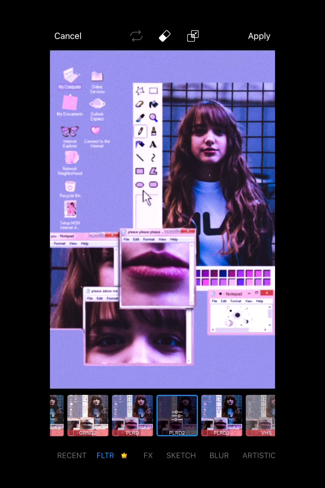 How To Create A Chunky Computer Aesthetic Edit With PicsArt Stickers 💻✨