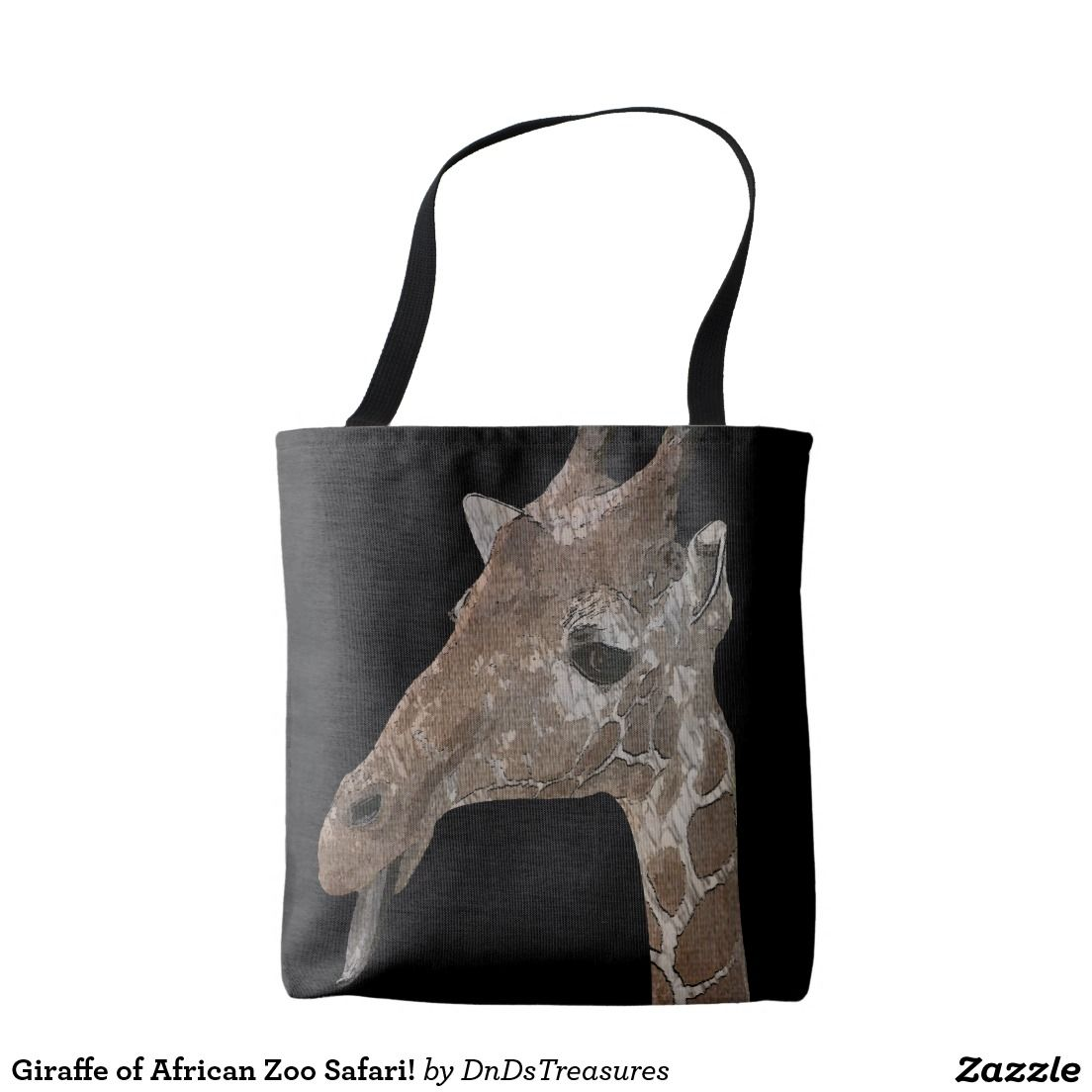 Giraffe of African Zoo Safari! Tote Bag