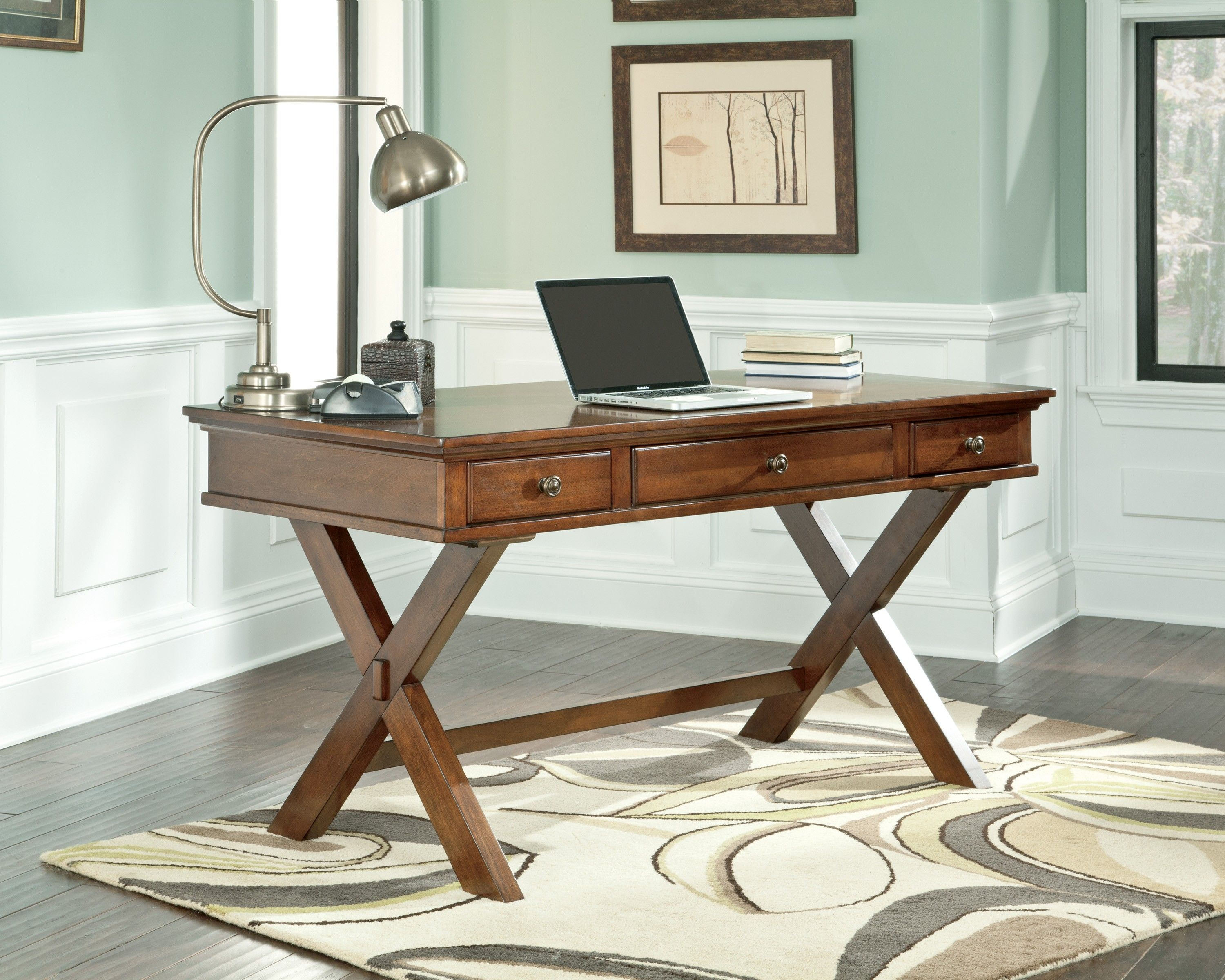 small office table and chairs. Buy Burkesville Home Office Desk By Signature Design From Www.mmfurniture.com. Sku: H565-45 Small Table And Chairs