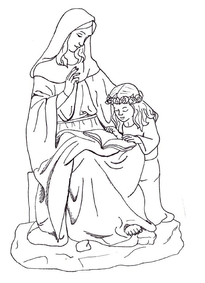 Image result for st anne coloring page | 26 Letters to Heaven ...
