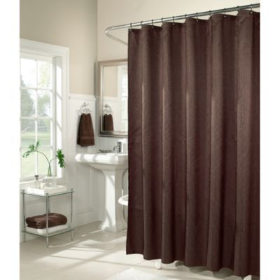 M Style Waves 72 Inch X 72 Inch Shower Curtain In Chocolate