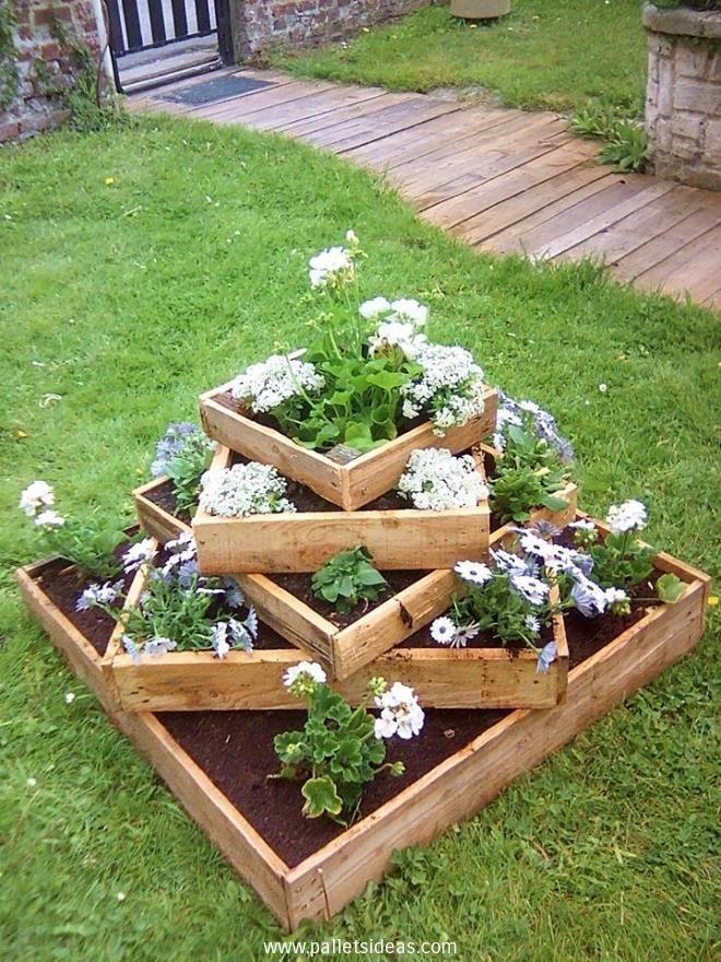 Garden Ideas With Pallets Diy Garden Bed Rustic Planters Garden Projects
