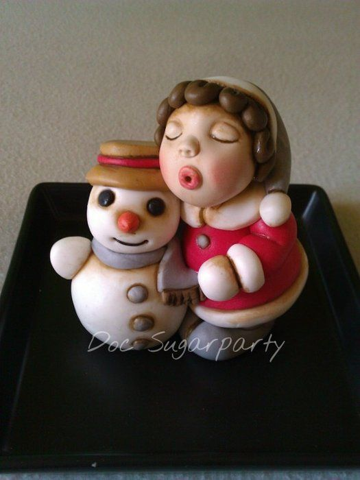 Thun Christmas topper - by Doc Sugarparty @ CakesDecor.com - cake decorating website
