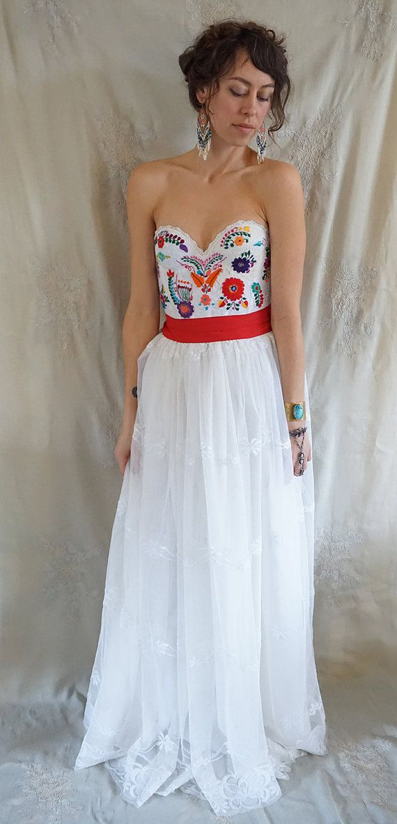 Meadow Bustier Wedding Gown or Formal Dress... boho whimsical ...